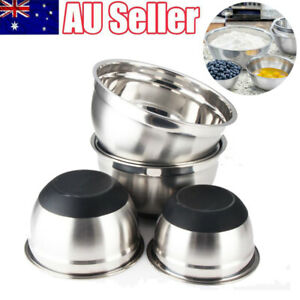 Stainless Steel Mixing Bowl Non-Slip Silicone Base Professional Kitchenware