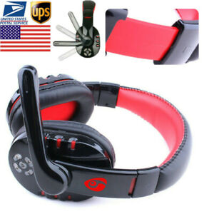 Wireless Bluetooth Gaming Headset Super Bass Headphones With Mic For PS4 PC MAC