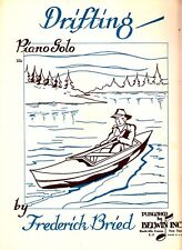Drifting Frederick Bried Man in Canoe 1955 Piano Solo Vtg Sheet Music