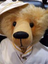 """Plum Street 31"""" Bear named Captain H. J. Strode Honey Country Mohair"""