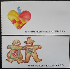 Norway 1987 Christmas Booklets(2). MNH.