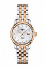 New Tissot Le Locle Automatic Diamond Two-Tone Steel Womens Watch T0062072211600