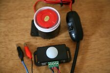 12v Alarm Lockup/House/shop Shed security with motion sensor- V Loud.easy to use