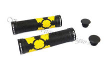NEW TOKEN TK988 X-GRIP BIKE BICYCLE HANDLEBAR DOUBLE LOCK GEL GRIPS, YELLOW
