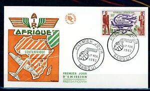 [G42135] Central African Rep. 1962 Good First Day Cover FDC Very Nice see pict