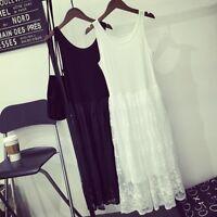 Women Lace Dress Extender Camisole Tank Slip Top Trim Layer Bottom Fancy Dress @