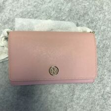 Tory burch Saffiano leather chine Cross body Rose Sachet 650