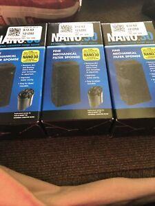 Zoo Med Nano 30 Mechanical Sponge, 3.125 in Lot Of 3