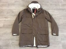 MENS MERC LONDON LINED QUILTED PARKA HOODED JACKET GREEN SIZE M