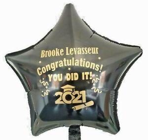 Graduation balloon PERSONALISED Congratulation Grad Class of 2021 Party Prom