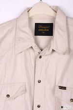 Wrangler Men's No Pattern Cotton Regular Collar Casual Shirts & Tops