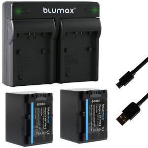 2x Akku für Sony NP-FV70 1680mAh + Dual Charger NP-FV100 | 65079-90108-90305