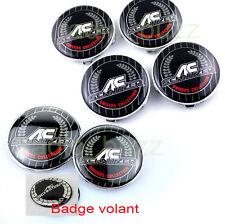 KIT 7 Badge Embleme LOGO AC SCHNITZ BMW- Capot + Coffre + Volant + 4 Cache Jante