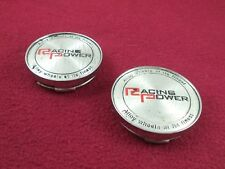 Racing Power Wheels Silver Custom Wheel Center Caps Set of 2 # 55071570F-2/T947