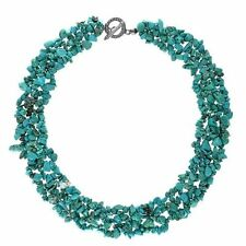 Turquoise Silver Plated Bib Costume Necklaces & Pendants