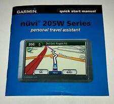 Garmin nuvi 205W Series Quick Start Manual ( Personal Travel Assistant)