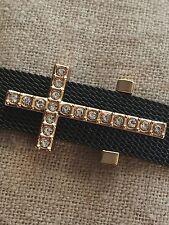 Large Pave Cross (3 Colors)10mm Slide Keep Bracelet Charm