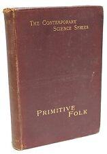 Primitive Folk ~ Elie Reclus ~ Studies in Comparative Ethnology ~ 1891 ~ Book