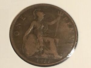 1917 George V Penny, collectable condition (8)