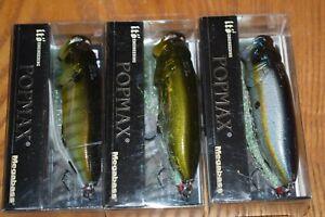 Fishing Lure Lot of 3 Megabass Ito Pop Max Topwater Fishing Lure NIB