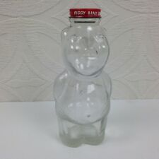 "Vintage Piggy Bank Syrup Hollow Glass Container w/ Lid & Coin Slot 7"" Tall"