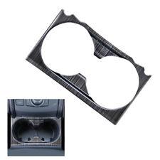 For Mazda CX-5 CX5 2017 2018 Black Titanium Water Cup Holder Frame Cover Trim