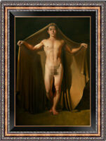 "Hand painted Original Oil Painting art young male nude on canvas 24""x36"""