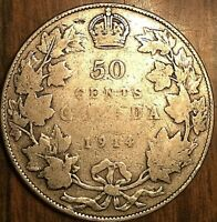 1914 CANADA SILVER 50 CENTS COIN