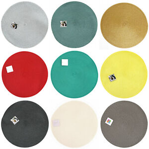 Tischset Platzdeckchen Ø 38cm rund Platzset Untersetzer Platzmatte versch Farben