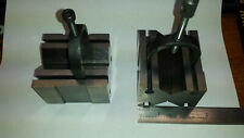 Fowler V Blocks Withclamps Matched Set 928 Sizes 63 Mm X 45 Mm X 70 Mm