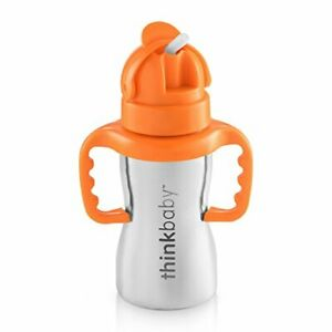 Thinkbaby Stainless Steel Thinkster Bottle, Orange (9 ounce) From Japan