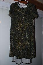 nwt LuLaRoe Carly Dress xs xtra small UNICORN 47 green camo rare