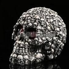 Resin Model LED Gothic Ornament Skull Human Skeleton Head Halloween Decor #1