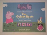 PEPPA PIG THE GOLDEN BOOTS POSTER Movie Cinema Film NEW A3 Unfolded NICK JR Ch5