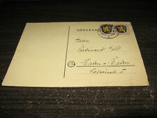 Germany French Zone Folded Page Cover With 2 Stamps Lot #29