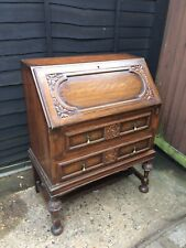 More details for solid oak antique bureau writing desk