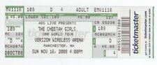 Rare THE CHEETAH GIRLS 11/16/08 Manchester NH Concert Ticket!