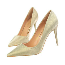 Ladies Womens Stilettos High Heels Pointed Toe Court Shoes Bling Wedding Party