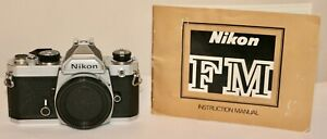 Nikon FM Body Only Looks Very Nice & Works Great Instructions included
