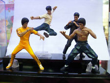 4Pcs/Set Bandai Bruce Lee Kung Fu Master Legend Action Figurines Model Toy