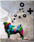 "BANKSY STREET ART CANVAS PRINT Berlin CMYK Dog 24""X 18"" stencil poster"