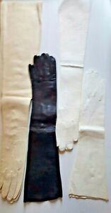 "Vintage Italy Kidskin Leather Women's Gloves SZ:6-3/4  L:15.5""-20.5"" Select 1"