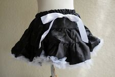 Girls Black and White Pettiskirt Size S Fits 1-2T