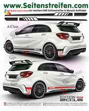 MERCEDES Benz a Classe w176 - 507/EDITION 1 pages Bandes Autocollant set 2016