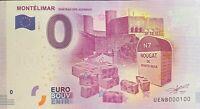 BILLET 0  EURO  MONTELIMAR CHATEAU ADHEMAR   FRANCE  2017  NUMERO 100
