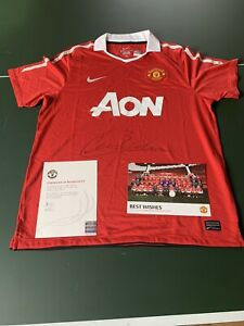 Patrice Evra 2010/11 Manchester United Signed Shirt Man Utd France Legend COA