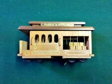 Powell & Hyde Streets Wooden Trolley Car Music box