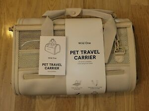 Wild One Portable Transport and Travel Pet Dog Carrier/Tote/Purse/Bag - Tan