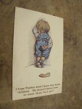 Early Comic / seaside humour Postcard - Mistreated Child