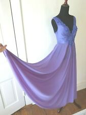 New listing Vintage, Htf Rare Purple Lace Full Sweep Nightgown by Olga Small Style 92280